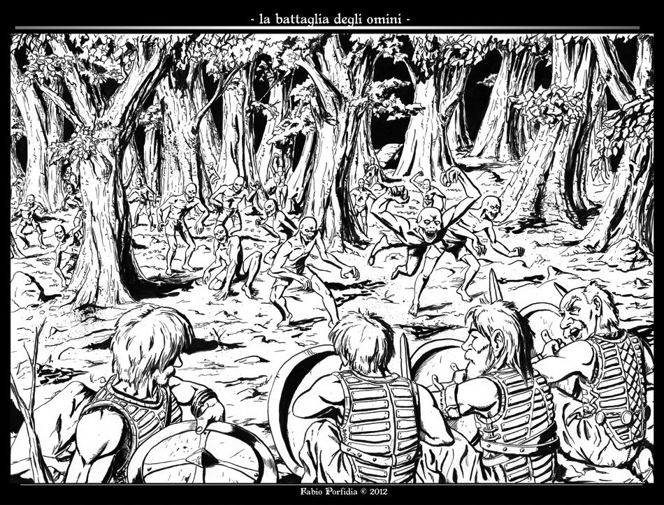 La Battaglia degli Omini ink