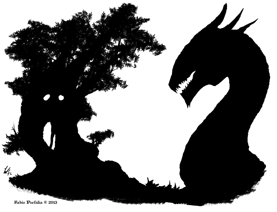 Silhouette Dragon