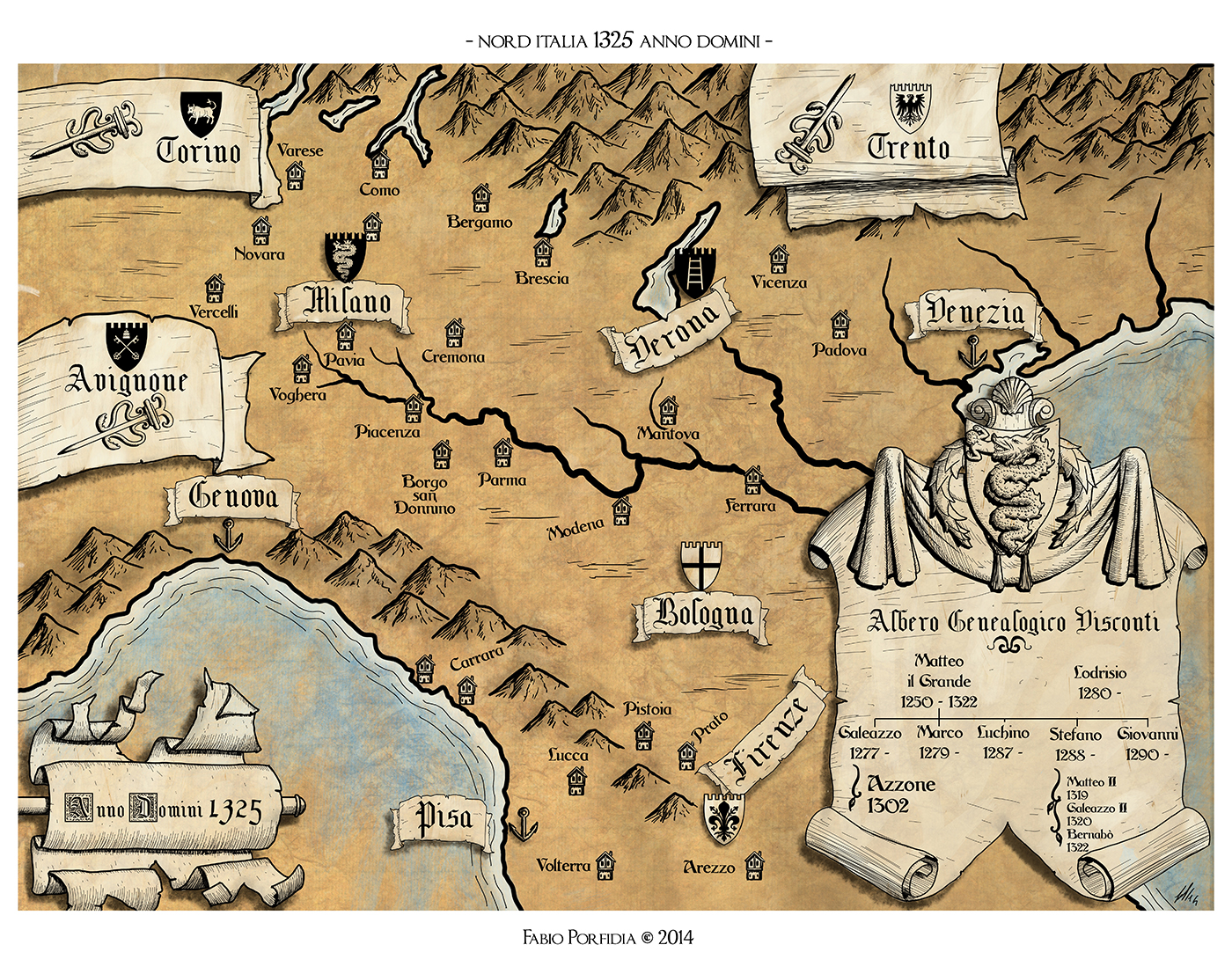 Nord Italia 1325
